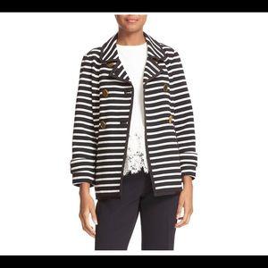 Kate Spade New York Black/Cream Stripe Jacket NWT